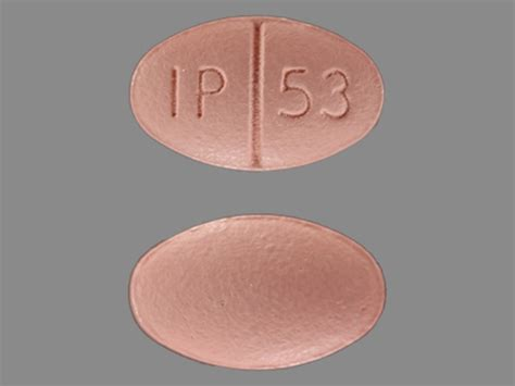 IP 53 Pill Images (Pink / Elliptical / Oval)